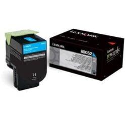 CARTUS TONER CYAN NR.800S2 80C0S20 2K ORIGINAL LEXMARK CX310N
