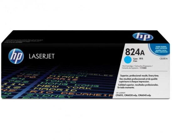 CARTUS TONER CYAN NR.824A CB381A 21K ORIGINAL HP LASERJET CP6015N