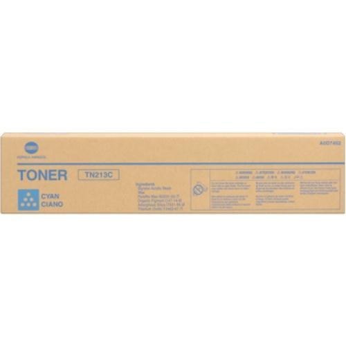 CARTUS TONER CYAN TN-213C A0D7452 19K ORIGINAL KONICA MINOLTA BIZHUB C203