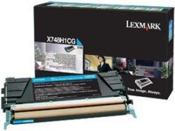 CARTUS TONER RETURN CYAN X748H1CG 10K ORIGINAL LEXMARK X748DE