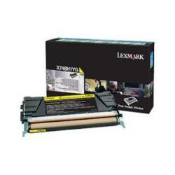 CARTUS TONER RETURN YELLOW X748H1YG 10K ORIGINAL LEXMARK X748DE