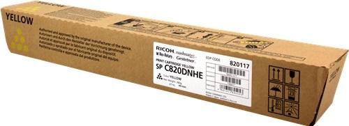 CARTUS TONER YELLOW 821059/820117 15K ORIGINAL RICOH AFICIO SP C820DN