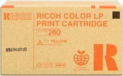CARTUS TONER YELLOW TYPE 260 888447 10K ORIGINAL RICOH AFICIO CL7200