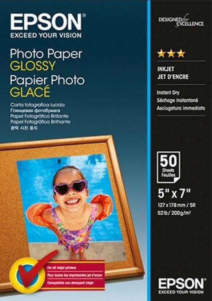 HARTIE CERNEALA EPSON PHOTO PAPER GLOSSY 13X18CM 200G 50 COLI C13S042545