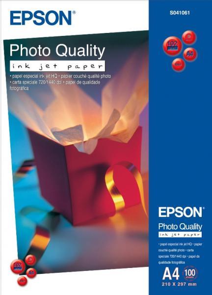 HARTIE CERNEALA EPSON PHOTO QUALITY A4 104G 100COLI C13S041061