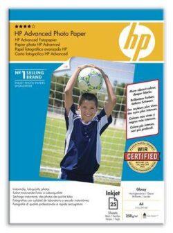 HARTIE CERNEALA HP PHOTO ADVANCED GLOSSY A4 25COLI 250G Q5456A