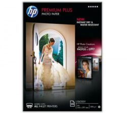 HARTIE CERNEALA HP PREMIUM PLUS GLOSSY PHOTO WHITE 300G A4 20COLI