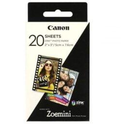 HARTIE FOTO CANON ZINK PENTRU ZOEMINI 5X7.6CM 20BUC