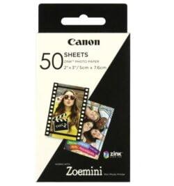HARTIE FOTO CANON ZINK PENTRU ZOEMINI 5X7.6CM 50BUC