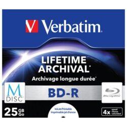 M-DISC VERBATIM BD-R 4X 25GB INKJET PRINTABLE 43823