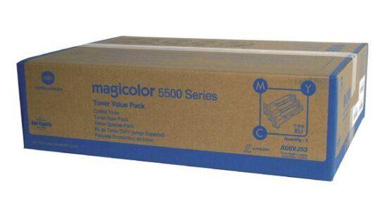 MULTIPACK CMY A06VJ53 3X12K ORIGINAL KONICA MINOLTA MAGICOLOR 5550