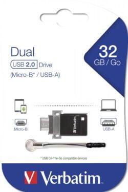 STICK USB VERBATIM 32GB DUAL DRIVE OTG USB2.0 49843