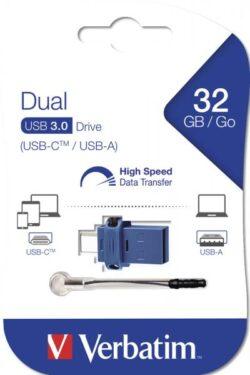 STICK USB VERBATIM 32GB DUAL DRIVE USB3.0 USB-C 49966