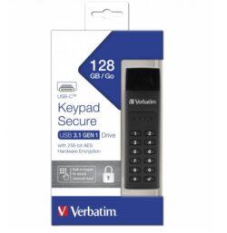 STICK USB VERBATIM KEYPAD SECURE USB-C 3.1 128GB 49432