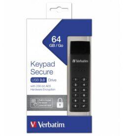 STICK USB VERBATIM KEYPAD SECURE USB3.0 64GB 49428