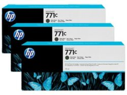 TRIPACK CARTUS MATTE BLACK NR.771C B6Y31A 3X775ML ORIGINAL HP DESIGNJET Z6200