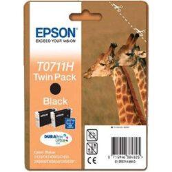 TWIN PACK CARTUS BLACK C13T07114H10 2X11