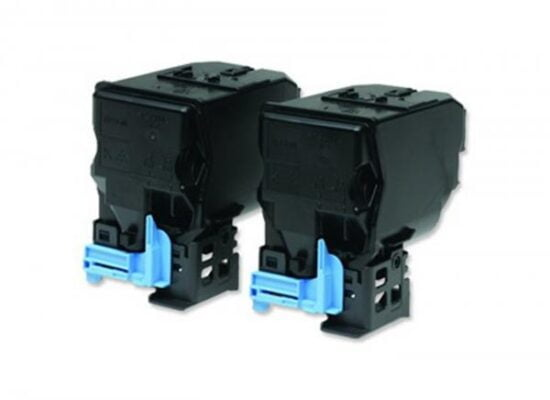 TWIN PACK CARTUS TONER BLACK C13S050594 2X6K ORIGINAL EPSON ACULASER C3900N
