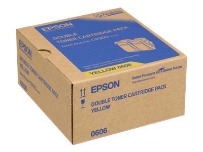 TWIN PACK CARTUS TONER YELLOW C13S050606 2X7