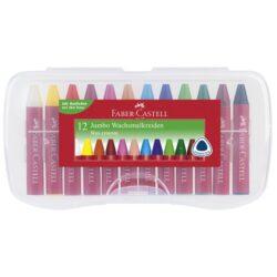 Creioane Cerate Jumbo Cutie Plastic Faber-Castell