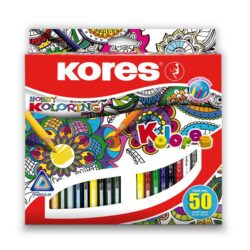 Creioane Colorate 50 Culori Triunghiulare Kores