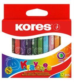 Creioane Cerate 12 Culori Kores