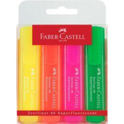 Textmarker Set 4 Culori Superfluorescent 1546 Faber-Castell