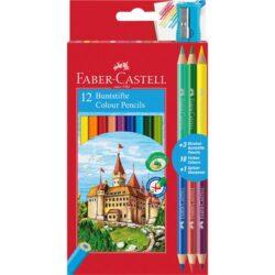 Creioane Colorate 12+3 Culori Eco Faber-Castell