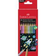 Creioane Colorate Metalizate 10 Culori Faber-Castell