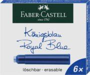 Cartuse Cerneala Mici Albastru 6 Buc/Cutie Faber-Castell
