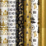 Hartie Ambalaj Rola 70cm x 2m Winter Gold Rotolux
