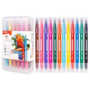 Carioci cu Varf Pensula Cutie Plastic Deli