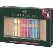 Rollup 30 Creioane Colorate Polychromos si 3 creioane Castell 9000 Faber-Castell