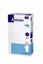 AMBULEX MANUSI LATEX PUDRATE 100BUC L