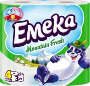 EMEKA HARTIE IGIENICA 4ROLE 3STRATURI MOUNTAIN FRESH