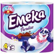EMEKA HARTIE IGIENICA 4ROLE 3STRATURI PARADISE
