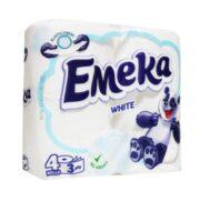 EMEKA HARTIE IGIENICA 4ROLE 3STRATURI WHITE