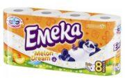 EMEKA HARTIE IGIENICA 8ROLE 3STRATURI MELON DREAM