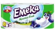 EMEKA HARTIE IGIENICA 8ROLE 3STRATURI MOUNTAIN FRESH