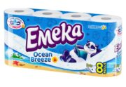 EMEKA HARTIE IGIENICA 8ROLE 3STRATURI OCEAN BREEZE