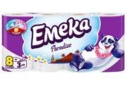 EMEKA HARTIE IGIENICA 8ROLE 3STRATURI PARADISE