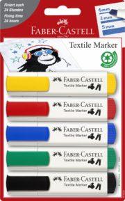 BLISTER 5 MARKERE TEXTILE STANDARD FABER-CASTELL