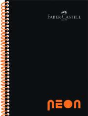 CAIET SPIRA A4 80F AR COPERTA PP NEON FABER CASTELL