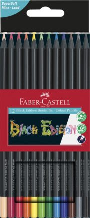 CREIOANE COLORATE 12 CULORI BLACK EDITION FABER-CASTELL