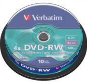 DVD-RW 10/SET VERBATIM 4.7GB 4X 43552