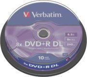 DVD+R DL 10/SET VERBATIM 8.5GB 8X 43666