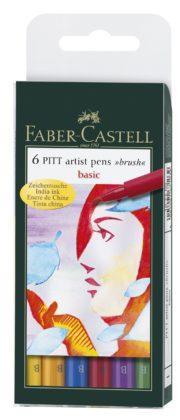 PITT ARTIST PEN SET 6 BUC CULORI DE BAZA FABER-CASTELL