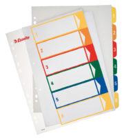 SEPARATOARE INDEX PLASTIC 1-6 IMPRIMABIL ESSELTE