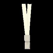SNUR TEXTIL PENTRU ECUSON ALB CAPSA PVC 450*15MM 12 BUC/SET DELI