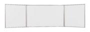 WHITEBOARD TRIPTIC 90*120 CM RAMA ALUMINIU MEMOBOARDS